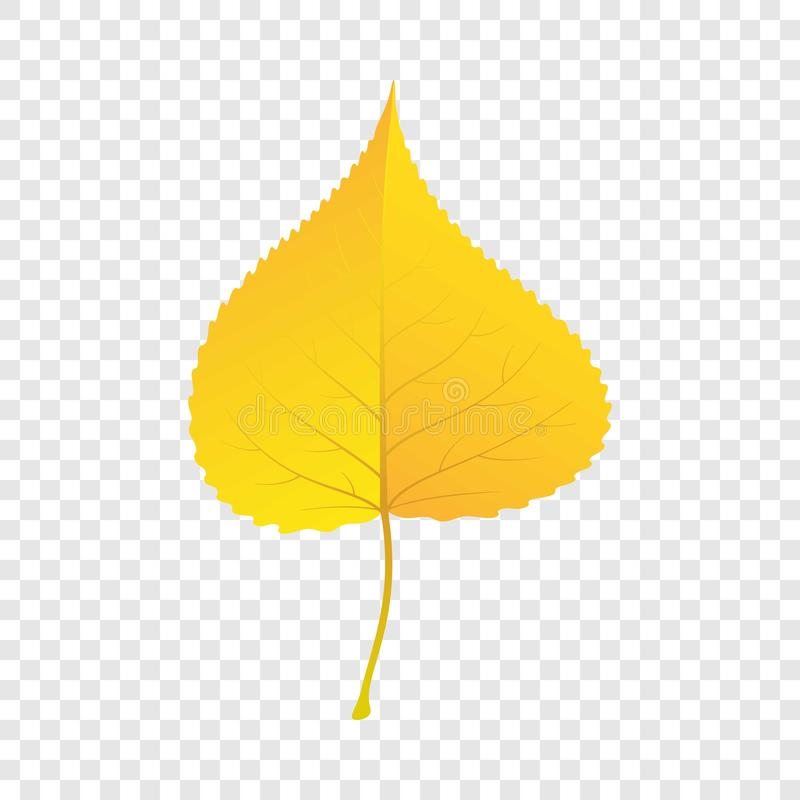 Bladsymbol för gul björk, lägenhetstil vektor illustrationer