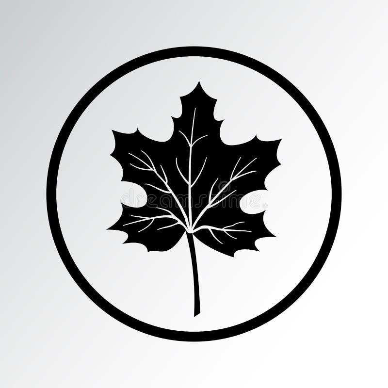 Bladsymbol isolerad leafl?nn ocks? vektor f?r coreldrawillustration royaltyfri illustrationer
