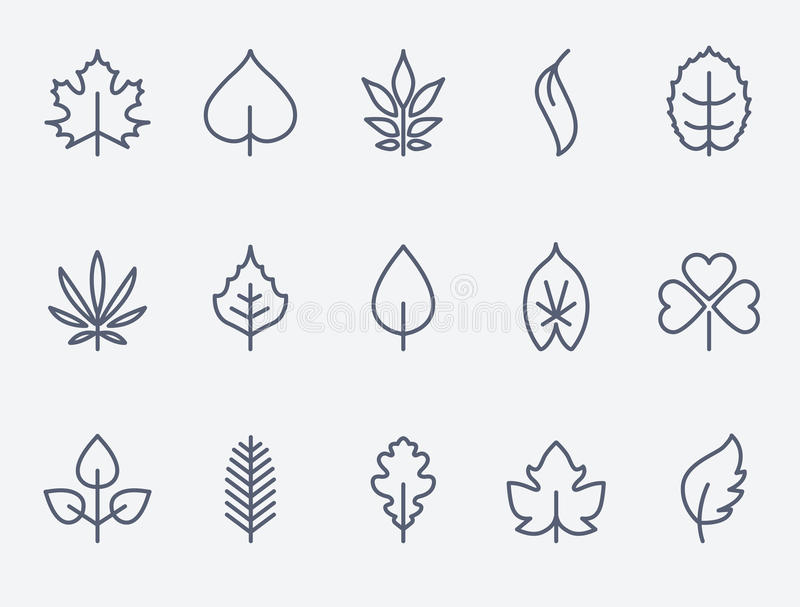 Bladsymboler vektor illustrationer