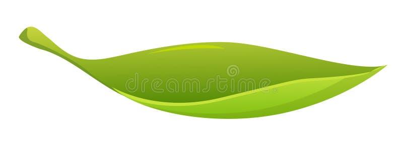 Bladvormige boot royalty-vrije illustratie