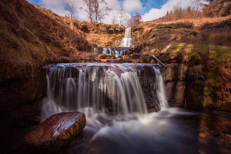 Blaeny Glyn watervallen royalty-vrije stock foto's
