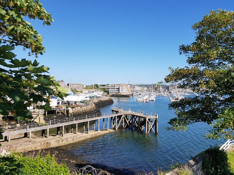 Blagdons fartyggård och den kungliga William gården Plymouth arkivbild