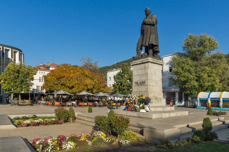 Gotse Delchev monument at The Center of town of Blagoevgrad, Bulgaria stock image