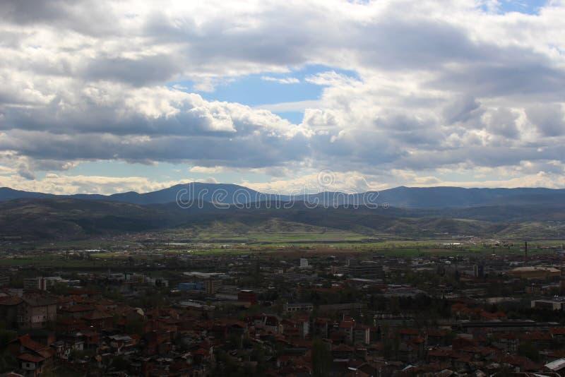 Blagoevgrad d'un autre angle de haute image libre de droits