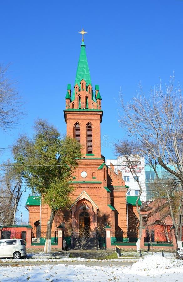 BLAGOVESHCHENSK Церковь Архангела Габриэля и других bodiless сил рая стоковое изображение