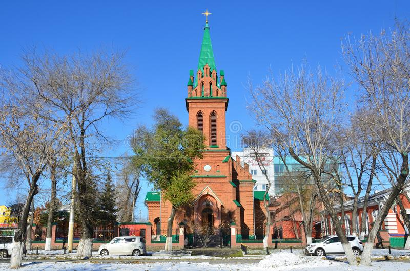 Blagoveshchensk. The Church of the Archangel Gabriel and the other bodiless powers of Heaven stock images
