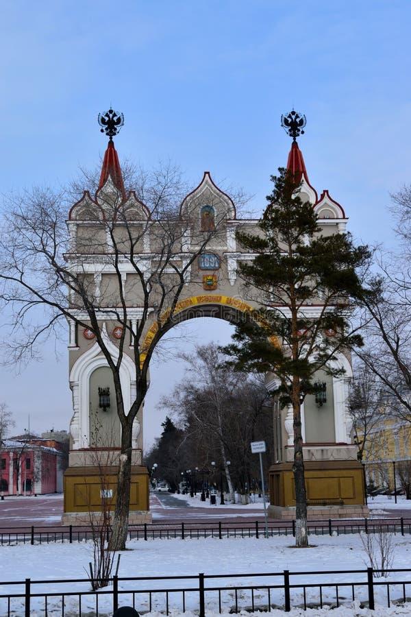 Blagoveshchensk stad arkivfoton