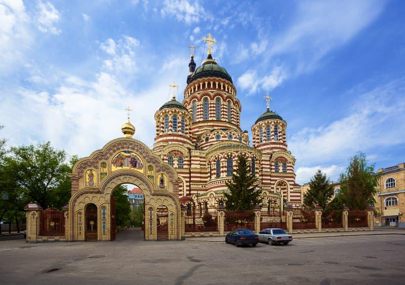 Blagoveshchensky大教堂。哈尔科夫。乌克兰。 图库摄影