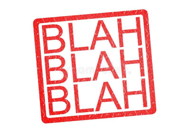 BLAH BLAH BLAH Rubber Stamp stock illustration