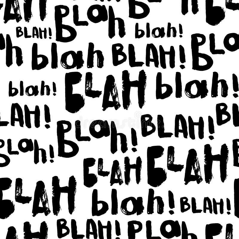 Blah-blah-blah seamless pattern. stock illustration