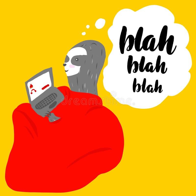 Blah - blah - blah stock illustrationer