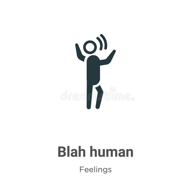 Blah human vector icon on white background. Flat vector blah human icon symbol sign from modern feelings collection for mobile vector illustration