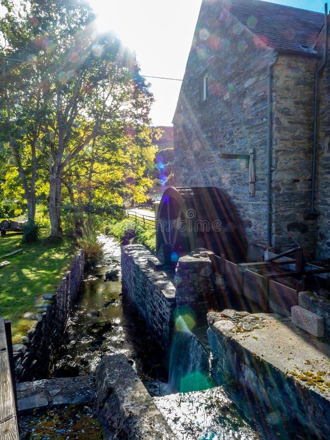Blair Atholl Water Mill Traditionelle Lebensmittelproduktion lizenzfreies stockbild
