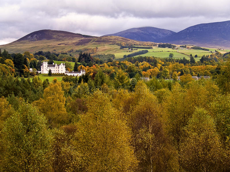 Download Blair castle in the autumn stock photo. Image of scotland - 12342070