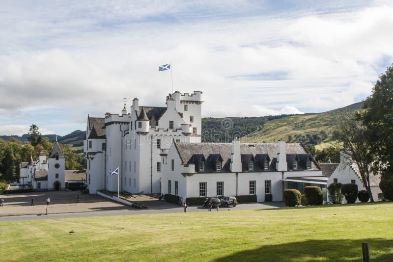 Blair Castle, kasteel in Schotland, het UK stock afbeeldingen