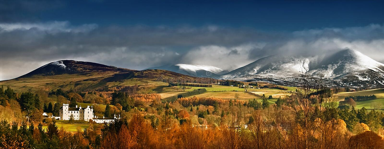 Blair Castle Panorama royalty free stock images