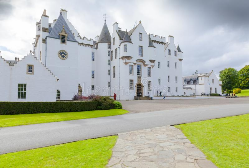 Blair Castle Scotland im Sommer das weiße Schloss stockfoto