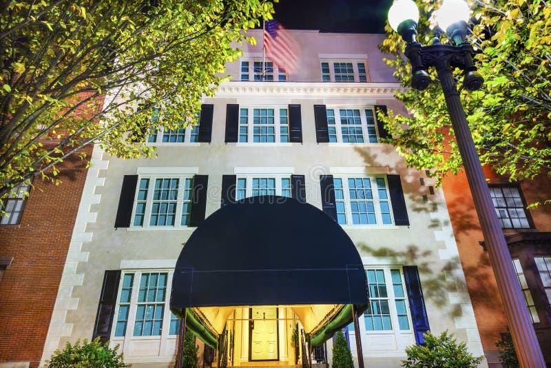 Blair House Building Second White-Haus-Nachtwashington dc lizenzfreie stockbilder