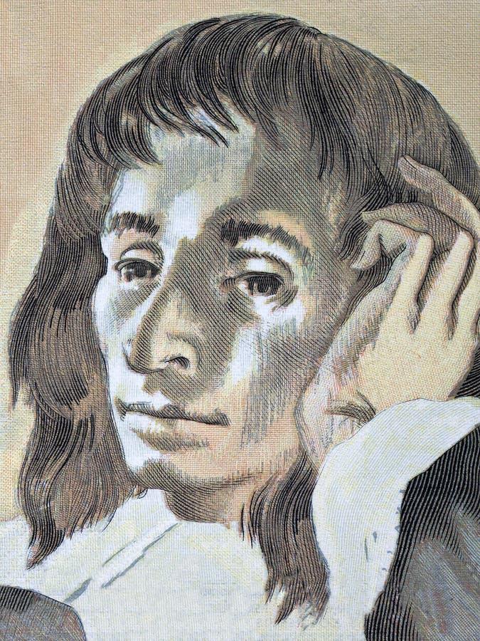 Blaise Pascal stående royaltyfri illustrationer