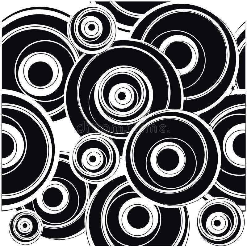 Download Blak circle pattern stock vector. Image of pattern, white - 9642182