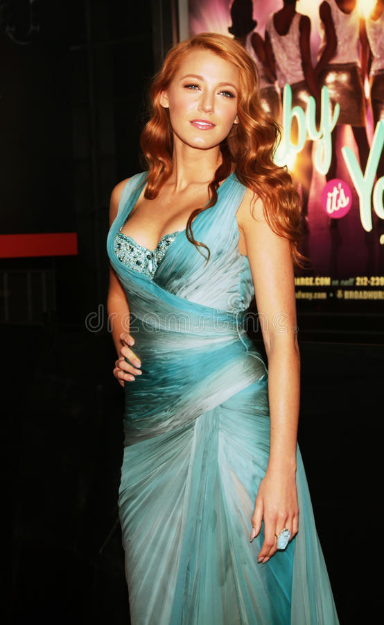Blake Lively. Actress/model Blake Lively arrives on the red carpet for Time Magazine's 100 Most Influential People gala in New York City on April 26, 2011 royalty free stock images
