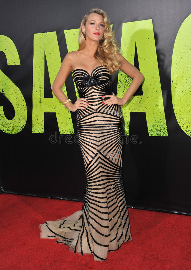 Blake Lively. At the world premiere of her movie Savages at Man Village Theatre, Westwood. June 26, 2012 Los Angeles, CA Picture: Paul Smith / Featureflash royalty free stock image