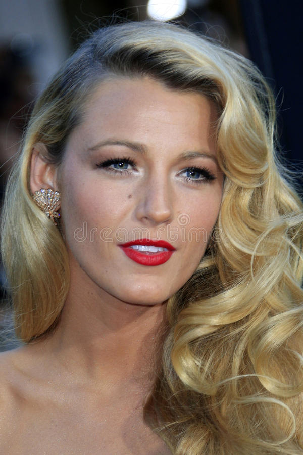 Blake Lively. LOS ANGELES - JUN 25: Blake Lively arrives at the 'Savages' Premiere at Village Theater on June 25, 2012 in Westwood, CA royalty free stock photography