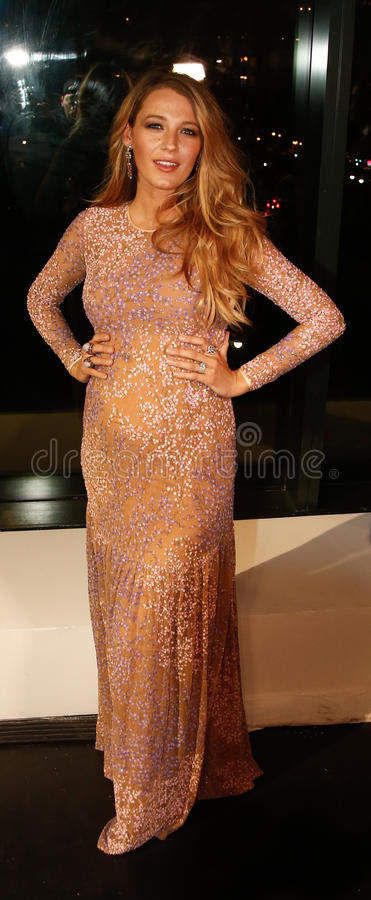Blake Lively. NEW YORK-OCT 16: Actress Blake Lively attends God's Love We Deliver, Golden Heart Awards on October 16, 2014 in New York City stock image