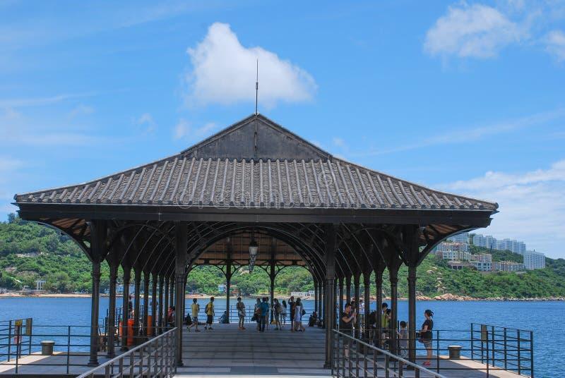 Blake Pier på Stanley, Hong Kong Island arkivbilder
