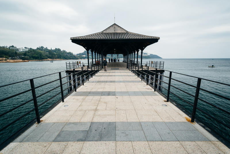 Blake Pier in Stanley, op Hong Kong Island, Hong Kong royalty-vrije stock foto's