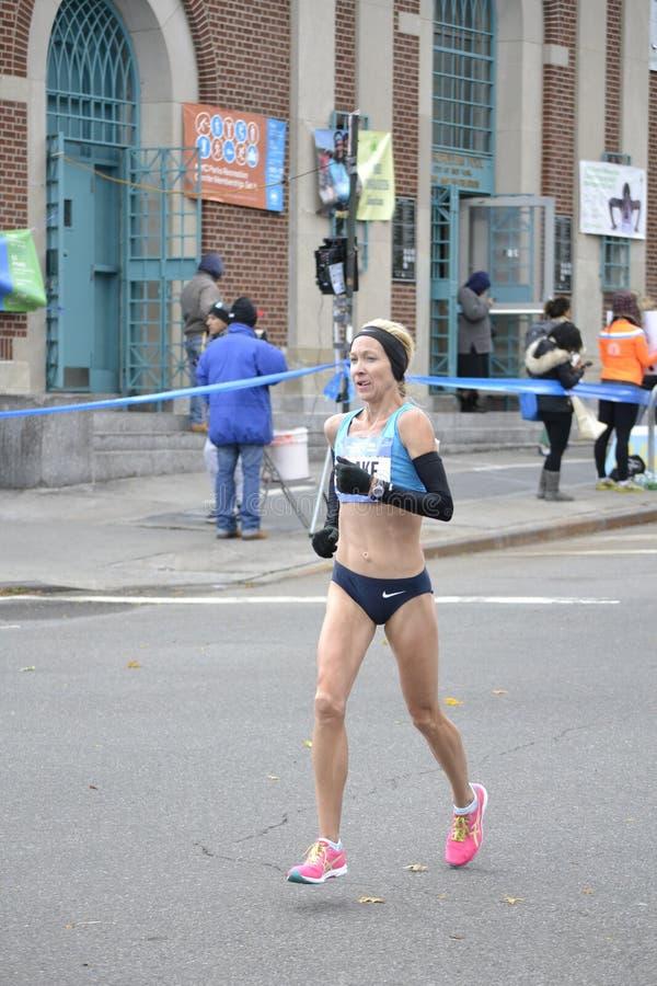 Blake Russell elita biegacza NYC maraton zdjęcia royalty free