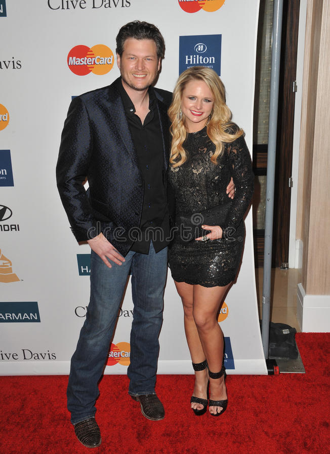 Blake Shelton, Miranda Lambert royalty free stock photography