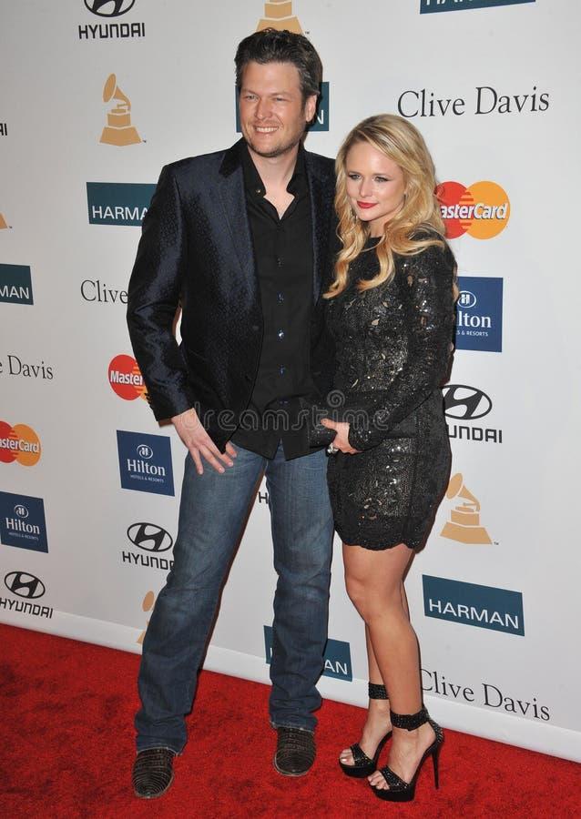 Blake Shelton, Miranda Lambert royalty free stock images
