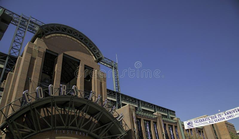Blake Street Entrance aan Coors-Gebied, Denver royalty-vrije stock foto's