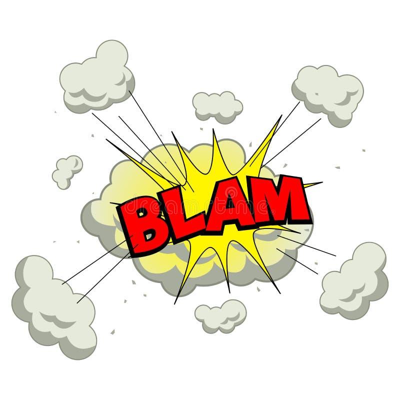 Blam vektor abbildung