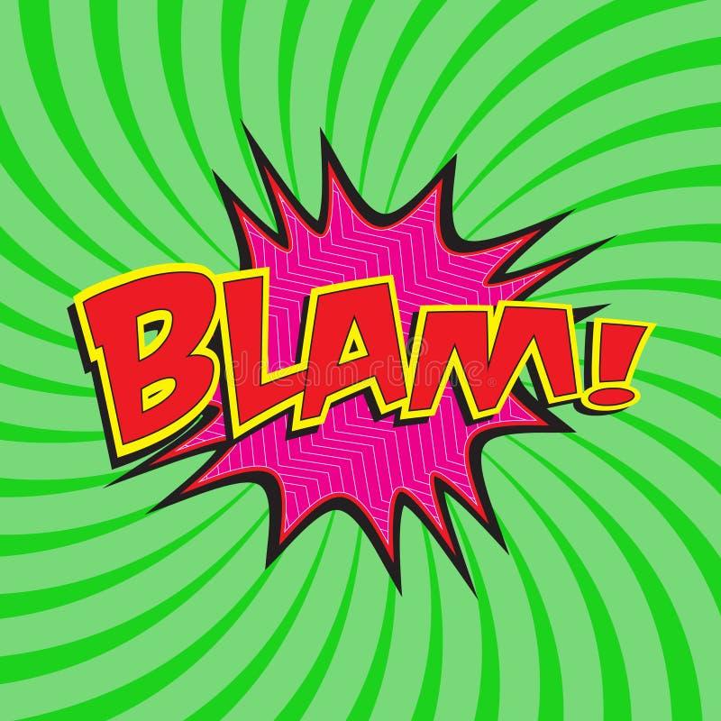 BLAM! grappige verwoording stock illustratie