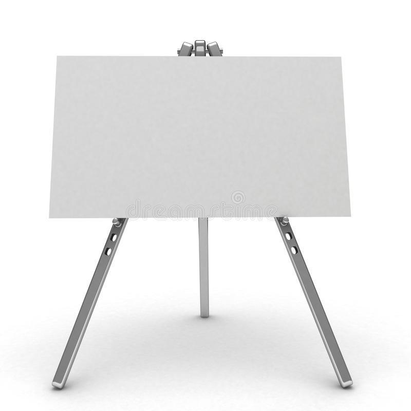 blanc 3d d'isolement par panneau-réclame illustration stock