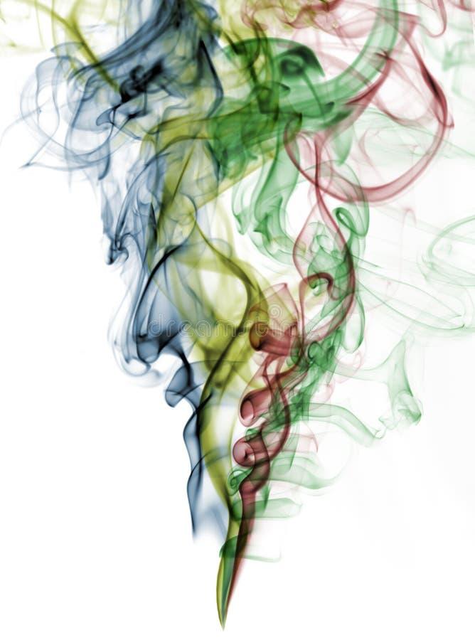 blanc abstrait de fumée de couleur de fond image libre de droits