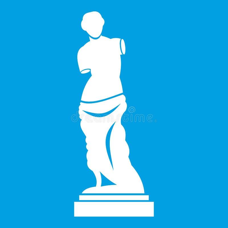 Blanc antique d'icône de statue illustration de vecteur