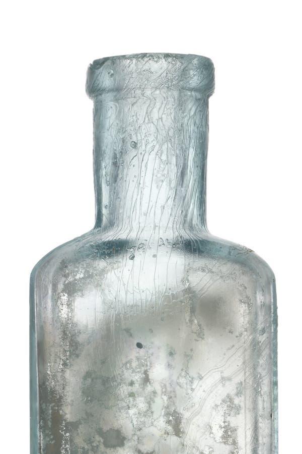 blanc antique de bouteille photos stock