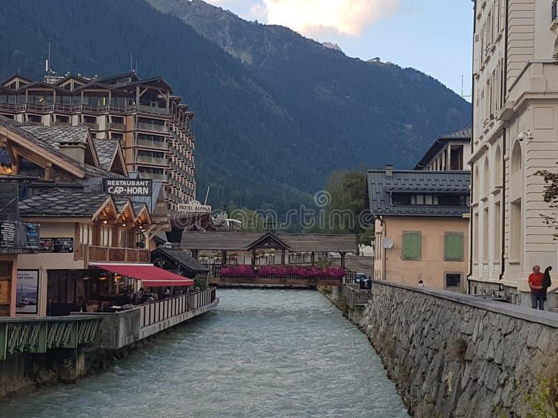 blanc Chamonix mont fotografia stock