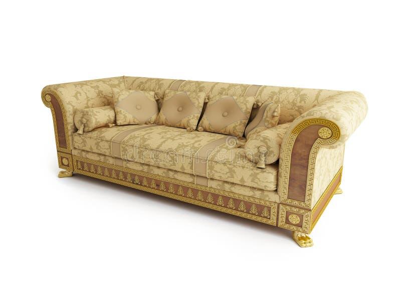 blanc classique de sofa de fond illustration libre de droits