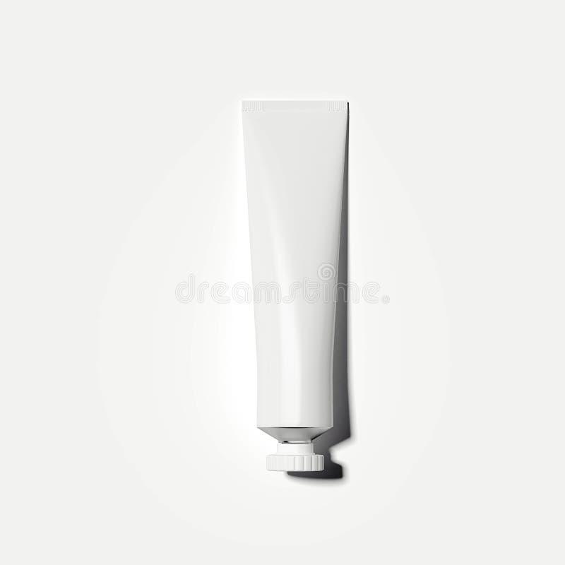 blanc cosmétique de tube rendu 3d illustration de vecteur