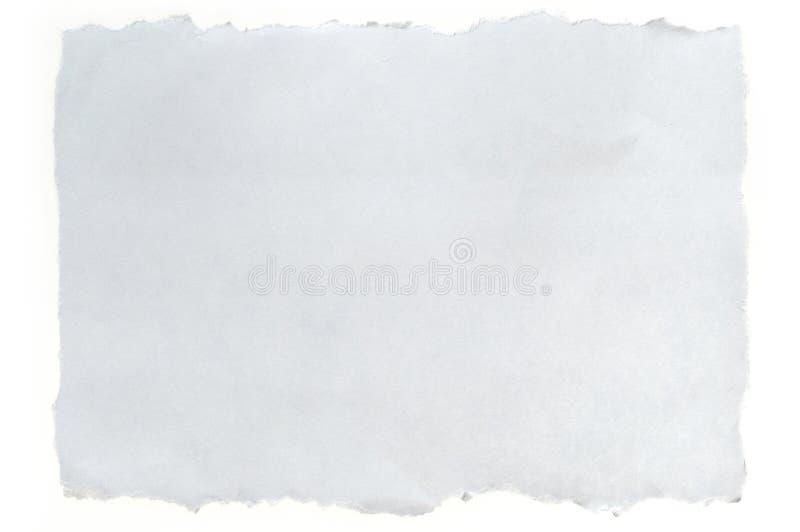 blanc déchiré par papier photos stock