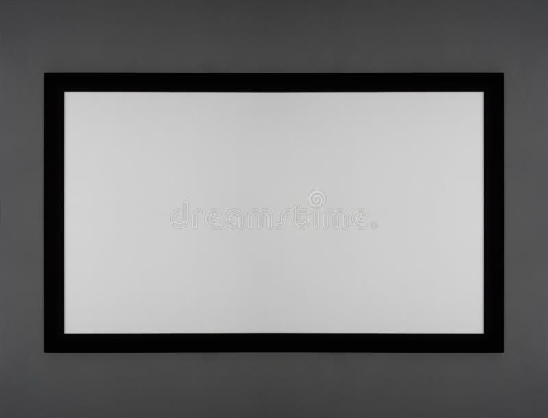 Blanc d'écran de projecteur photographie stock