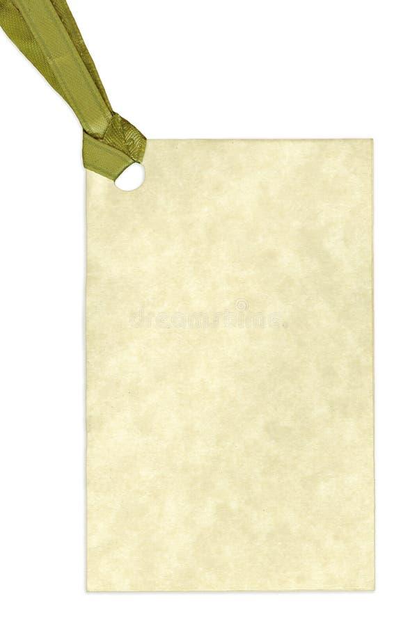 blanc d'étiquette d'isolement par cadeau blanc de fond photographie stock libre de droits