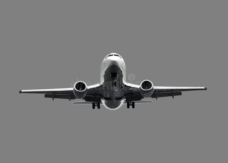 blanc d'avion à réaction d'avion photographie stock libre de droits