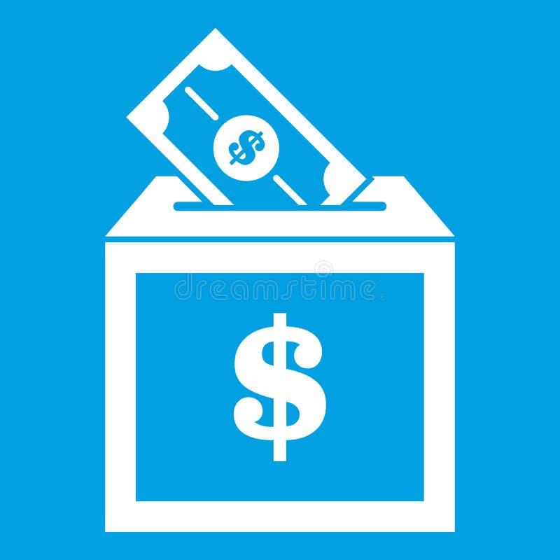 Blanc d'icône de boîte de donation illustration libre de droits