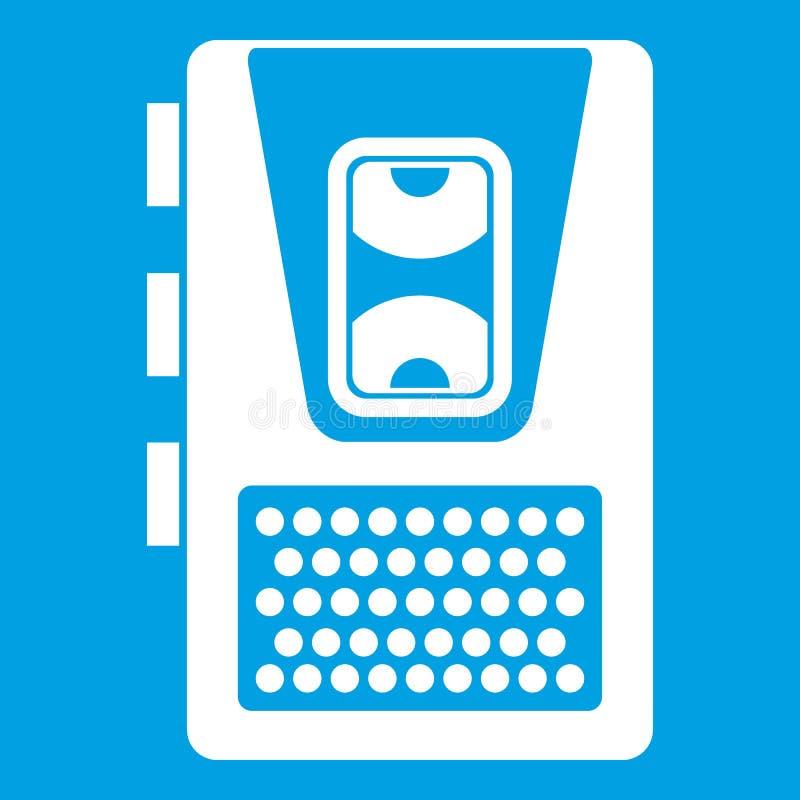 Blanc d'icône de dictaphone illustration libre de droits
