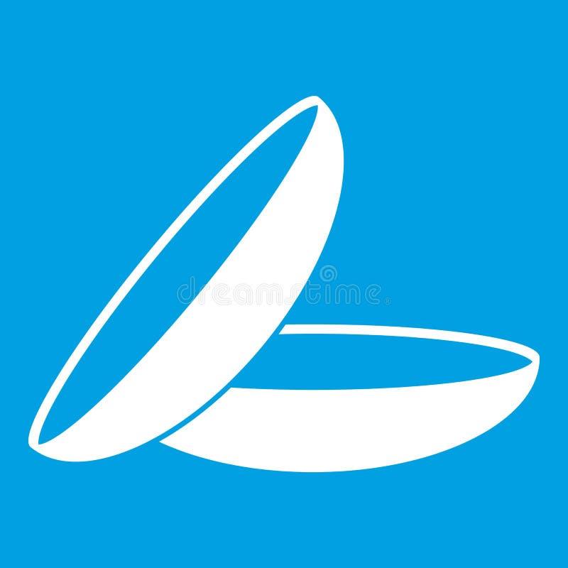 Blanc d'icône de verres de contact illustration libre de droits